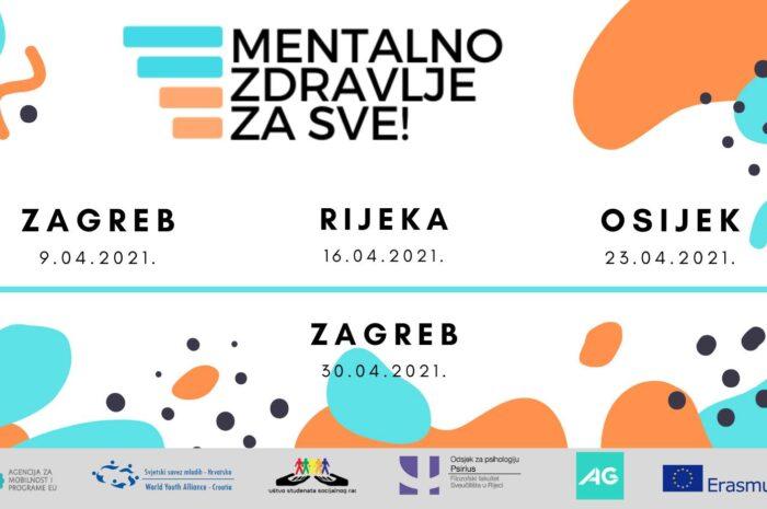 """Erasmus+ projekt """"Mentalno zdravlje za sve!"""""""